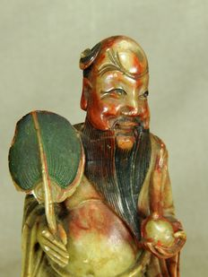 Soapstone statue of a wise man - China - early 20th century