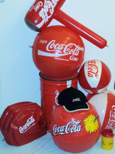 Lot of 10 different Coca Cola summer items
