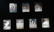 Salvador Dali - pure silver bullion - 'The Seven Days of Creation' - with certificate of authenticity
