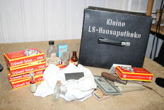well preserved air raid house medicine cabinet, pretty estate from Rhaudermoor,