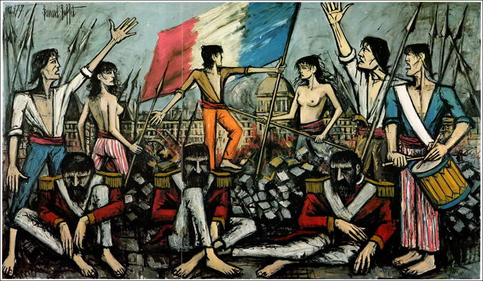 Bernard buffet l 39 empire ou les plaisirs de la guerre et for Bernard buffet vente
