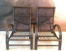 Two Veelo Bamboo (garden) chairs