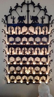 Iron wall candle stick india
