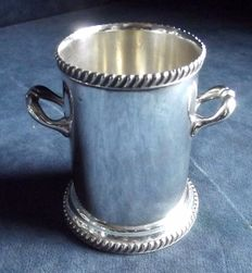 Antique English Silver Plated Ice Bucket by Atkins Brothers, around 1925