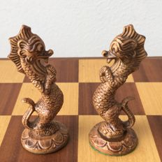 Chinese chess set including storage box
