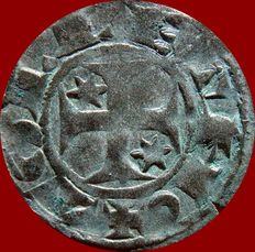 Medieval Spain – Alfonso I of Aragón (1104–1134) Billon Aragon coin (0.80 g, 18 mm) coined in the mint of Toledo.