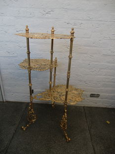 Very nice 3 piece yellow copper etagere