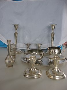 Kavel verzil;verd table ware, mainly Keltum / v Kempen Begeer, 2nd half 20th century