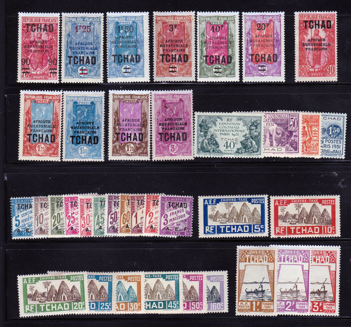Chad 1922 To 1958 Almost Complete Vast Collection Of 262 Stamps