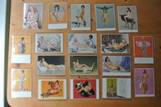 Post cards; Lot with 92 erotic postcards - 2nd half of 20th century