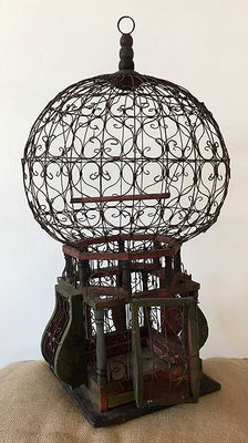 Beautiful old bird cage, 1st half 20th century