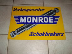 Metal sign-Monroe shock absorbers-1970