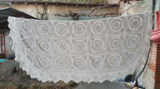 Large hand-made crochet bedspread, 220 x 200 cm, France, beginning of the 20th c.