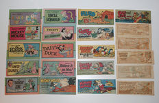 Disney, Walt - 21 Engelstalige uitgaven - o.a Goofy and the Gangsters + Donald Duck, Klondike Kid - 21x sc - 1e druk (1947/1976)