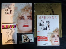 Madonna - Who's That Girl World Tour Book 1987 - Album - Official Tour Ticket - Fanclub Magazine - Map with Rare News Sheets