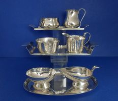 Georg Nilsson for Gero-3 silver plated cream set