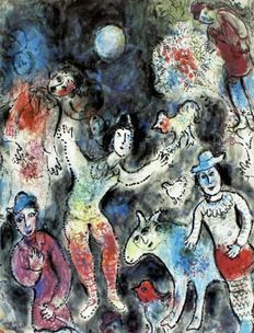 Marc Chagall (after) - Clowns