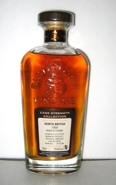 North British 51 years old 1959 - 70cl - 55,6% - Signatory Vintage - Luxury Box