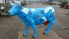 Painted cow - life size