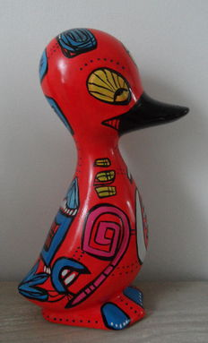 "Marianne Bey for Arti 4, ceramic ""Duck Emily"" statue (unica)"