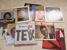 Soul, lot of ten (10) LP's in EX / NM condition