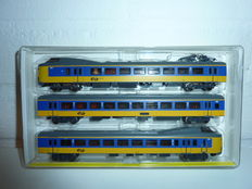 Trix N - 12749 - 3-piece Intercity Kopopler of the NS, yellow / blue