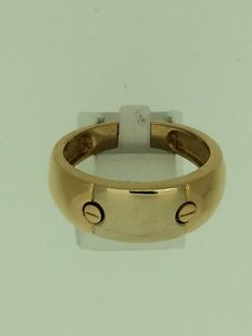 Men's ring in two-coloured 750 gold.