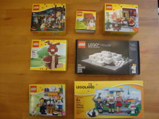 Billund Exclusives / Legoland Parks - 7 sets o.a. 4000010 + 40115 - LEGO House + LLP Entrance with Family