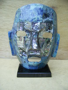 Mexican mask-Lapis Lazuli- after the Mayan civilization