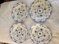 Royal Copenhagen - blue fluted 4  plates