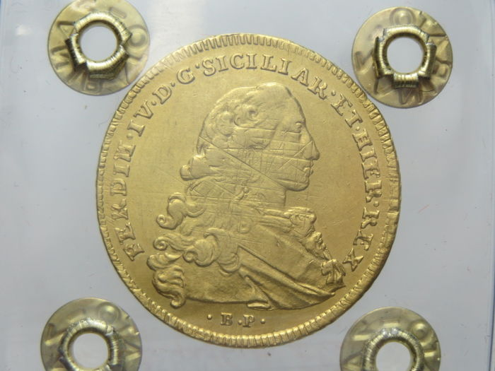 Kingdom of Naples – 6 Ducati 1773 Ferdinando IV – Gold