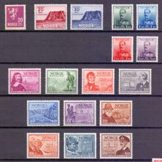 Norway 1922/2002 – Collection of stamps and series on 7 black pages – between Yv 98 and 1386