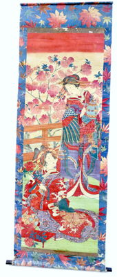 Colour print on rice paper, decorative roll - Japan - second half of the 19th century