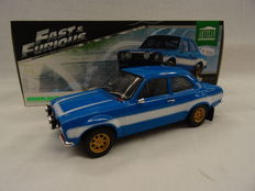"Greenlight - Schaal 1/18 - Ford Escort MK I RS2000 1974 'Brian""s Car Fast and The Furious' - Color Blue"