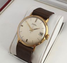 Zentra vintage men's wristwatch with central second hand and date display – no reserve