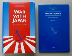 Ministry of Defence, (NAVY) – War with Japan – 6 parts in 4 binders with 4 folders with cards - 1995