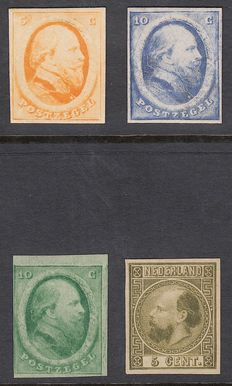 The Netherlands 1864/1867 - King William III - 4 samples