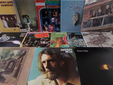 Great Collection of 13 Southern Rock and Country Rock LP's: incl. Flying Burrito Bros & Byrds & Gene Clark & Dillard & Clark
