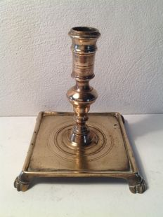 Antique bronze candlestick-Spain- late 17th century