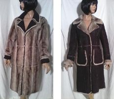 MEXX - reverse coat - fur and leather