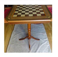 Game table with drawers and pieces