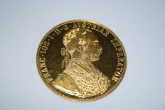Austria - 4 Ducats from a 1915 official restrike - gold.