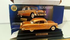 Franklin Mint - Scale 1:24- The 50 Millionth-1955 Golden Chevy Bel Air-Limited Edition - 24kGold plated