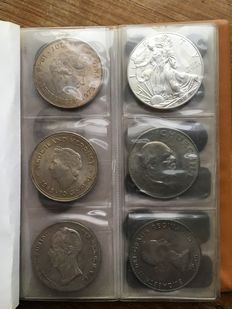 The Netherlands, USA and England - coins 1846-1973, including silver