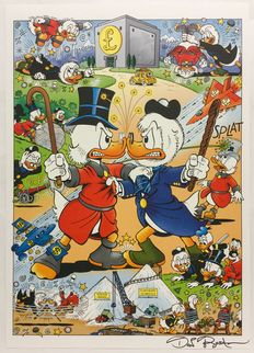 Rosa, Don - graphics - Uncle Scrooge vs Flintheart Glomgold