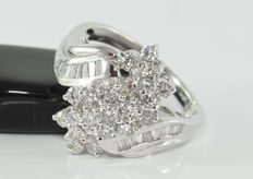 1.10 ct diamond ring in 18 kt white gold * no reserve *