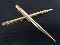Cartier Must de Cartier Gold Plated Steel ballpoint pen and mechanical pencil