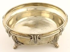 Dellevie - Silver fruit bowl on legs, Hamburg ca. 1857-1865