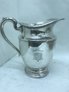 Silver plated pitcher, U.S.A., 1953