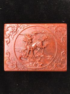 A soapstone seal boxed-China - 21st century